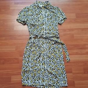 DVF 100% silk mini dress